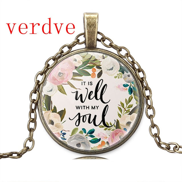 Quote Lettering Necklace