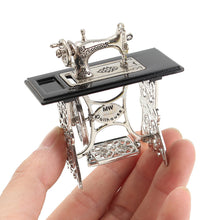 Load image into Gallery viewer, 1pcs Mini Vintage Sewing Machine Doll House Doll Cloth Model Accessories Home Furniture Toy Crafts Decoration
