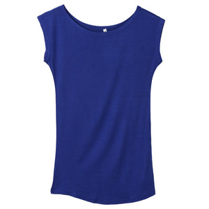 O-neck Round Side Casual Tees