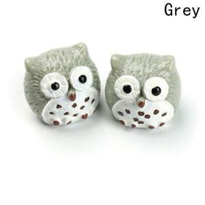 Mini Resin Owl Figurines