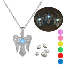 Load image into Gallery viewer, Pear cage Angel Wing Necklace