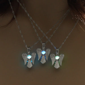 Pear cage Angel Wing Necklace