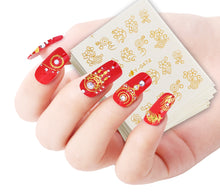 Load image into Gallery viewer, Gold Silver Nail Water Sticker