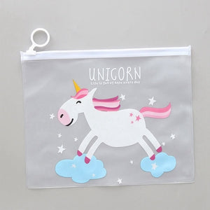 Unicorn Transparent Travel Cosmetic Bag