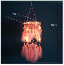 Load image into Gallery viewer, Handmade Girls Pink LED Dreamcatcher