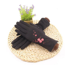 Load image into Gallery viewer, Plum Pattern Mittens Gloves