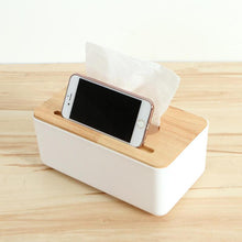 Load image into Gallery viewer, Wooden Tissue Box