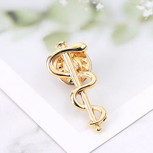 Snake Caduceus Pins