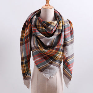 Knitted Scarf plaid warm