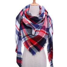 Load image into Gallery viewer, Knitted Scarf plaid warm