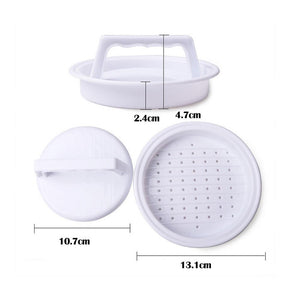 1 pc Hamburger Mold Maker Multi-function Sandwich Meat Kitchen Barbecue Tool DIY Home Cooking Tools White W45