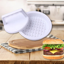 Load image into Gallery viewer, 1 pc Hamburger Mold Maker Multi-function Sandwich Meat Kitchen Barbecue Tool DIY Home Cooking Tools White W45