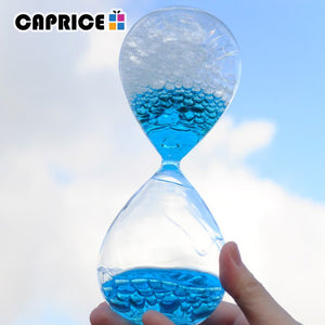 Liquid Droplet Hourglass Art