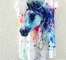 Load image into Gallery viewer, Horse Pattern Print T-Shirt
