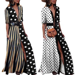 Vintage Polka Dot Print Dress