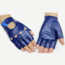 Load image into Gallery viewer, Leather Finger Less Gloves