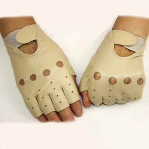 Leather Finger Less Gloves