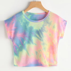 Beautiful Tie Dye Short Sleeve