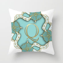 Load image into Gallery viewer, Gold Letter Pillow Cover