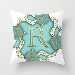 Gold Letter Pillow Cover