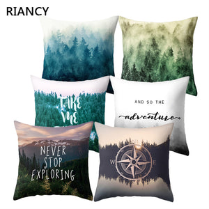 Tree Forest Pattern Polyester Throw Pillow