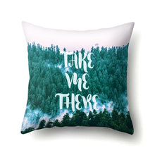 Load image into Gallery viewer, Tree Forest Pattern Polyester Throw Pillow