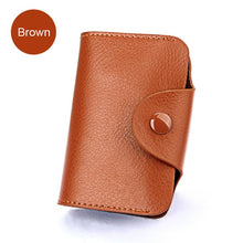 Load image into Gallery viewer, Genuine Leather Unisex Business Card Holder