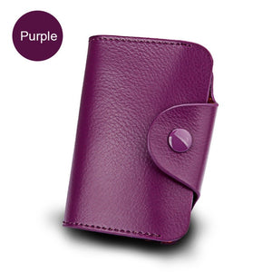 Genuine Leather Unisex Business Card Holder