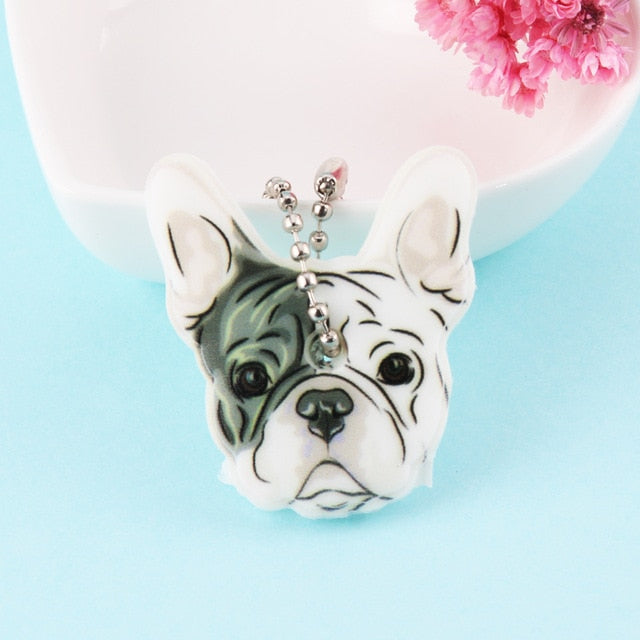 Bulldog Dog Key Cover Cap Key Chain