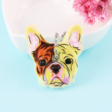 Load image into Gallery viewer, Bulldog Dog Key Cover Cap Key Chain