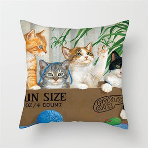 Pets World Cushion Cover