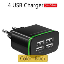 Load image into Gallery viewer, 4 Ports USB Wall Charger