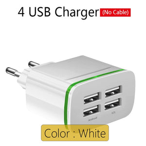 4 Ports USB Wall Charger
