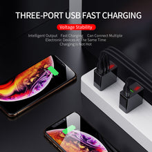 Load image into Gallery viewer, 3 Port USB Charger