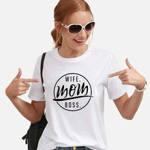 Load image into Gallery viewer, Letter Printed Women T Shirts