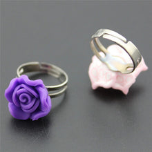 Load image into Gallery viewer, Polymer Clay Metal Rings