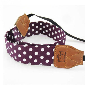 Universal Retro Polka Dots Blue Shoulder Belt