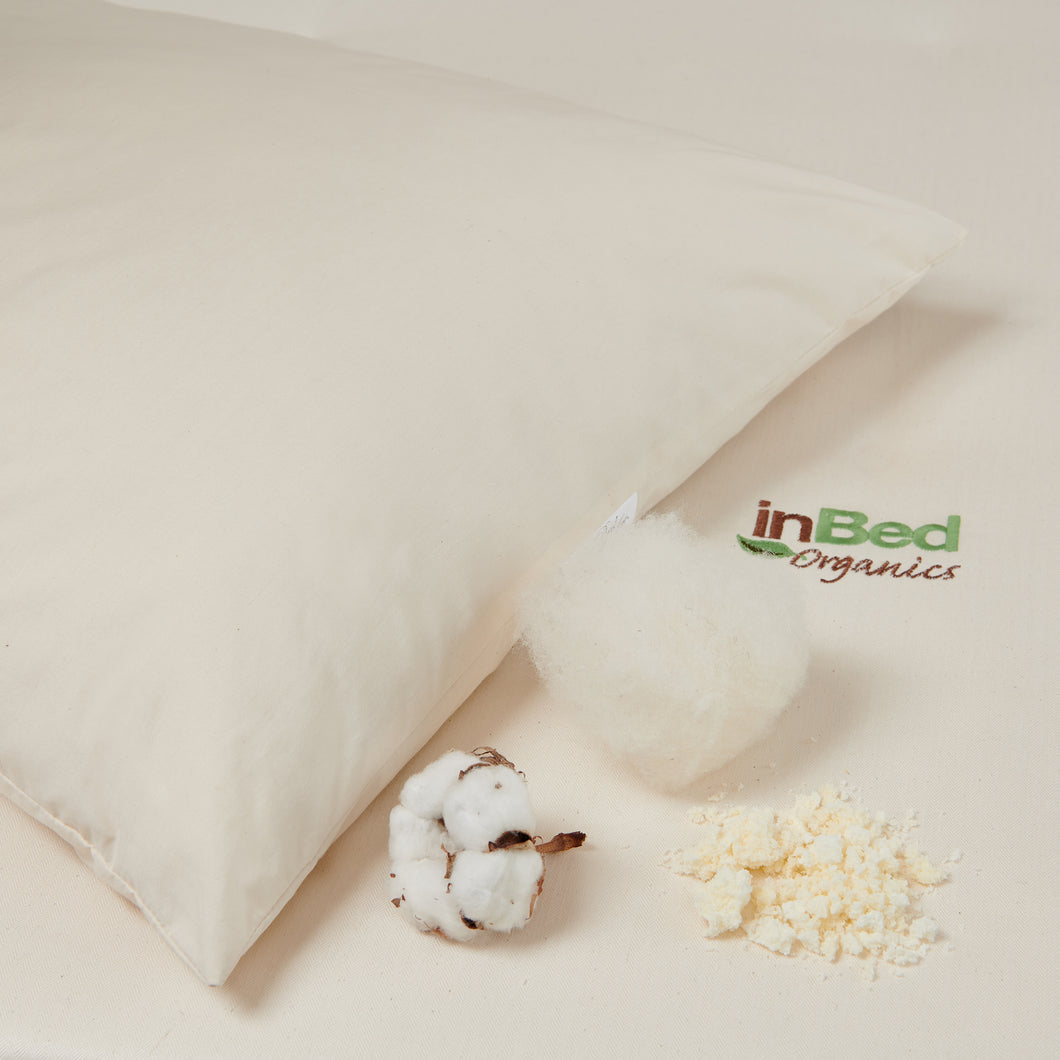 Pillow - Certified Organic Shredded Latex & Natural Wool
