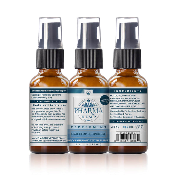 Hemp Oil Oral Spray Tincture VG Base (120mg-550mg)