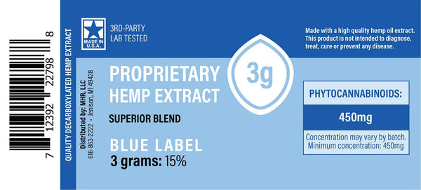 Blue Label Hemp CBD Extract Syringe 3