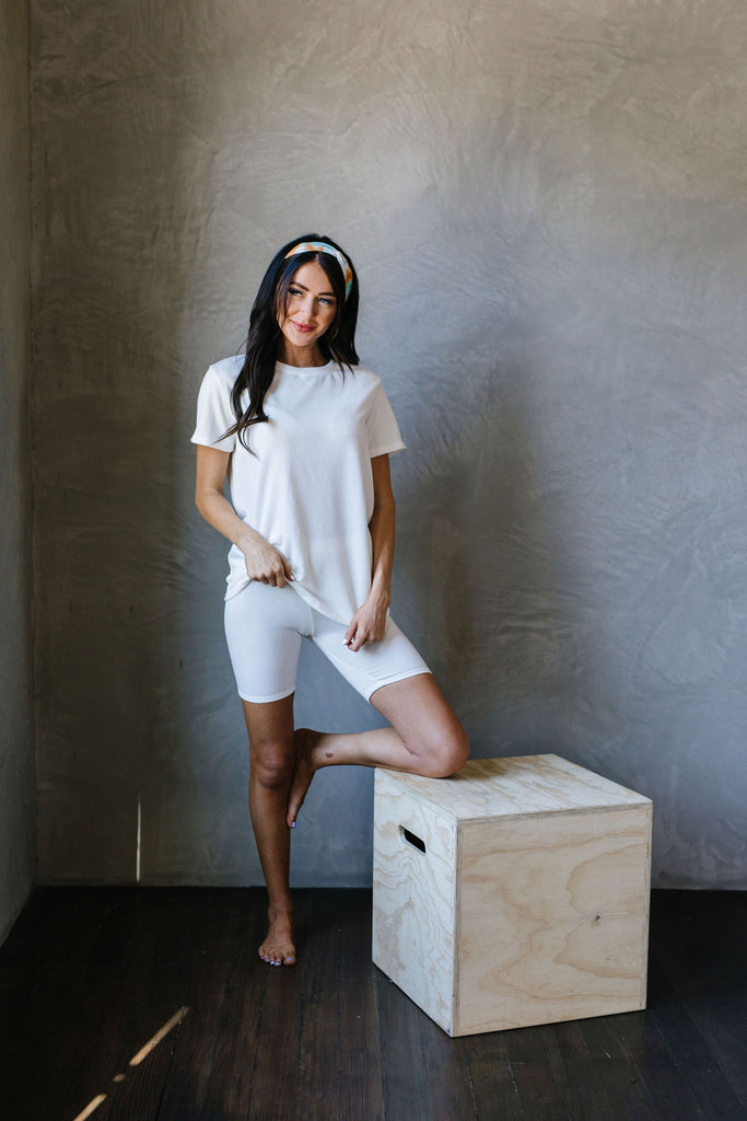To Lounge Or Bike Shorts In Ivory