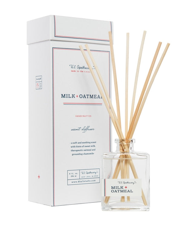 US Apothecary - 8 oz Diffuser - Milk + Oatmeal