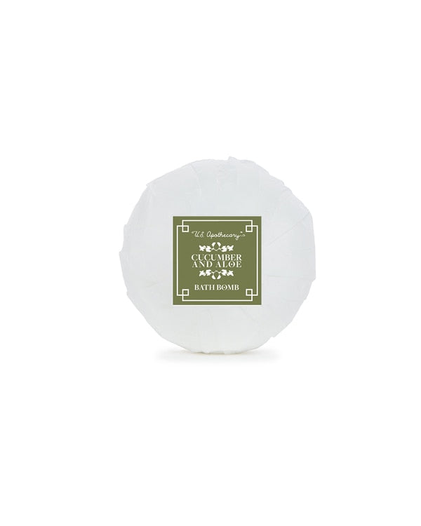 US Apothecary - 4.3oz Bath Bomb - Cucumber & Aloe