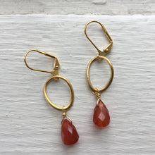Load image into Gallery viewer, Dana Herbert - Gold Oval Earrings