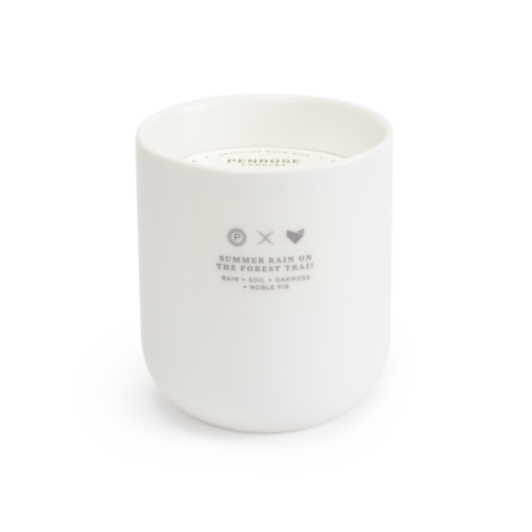 Penrose - Summer Rain on the Forest Trail Ceramic Candle