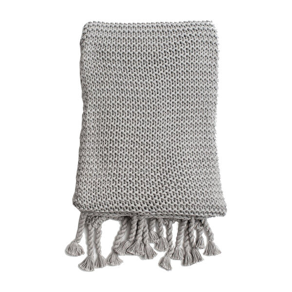 Zestt - Comfy Knit Throw Gray