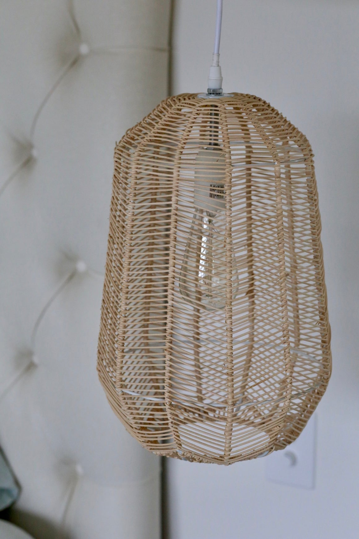 CYLINDRICAL RATTAN PENDANT - Preorder Only