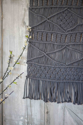 WEAVED WONDERER WALL HANGING | GREY(2 PIECE SPECIAL)