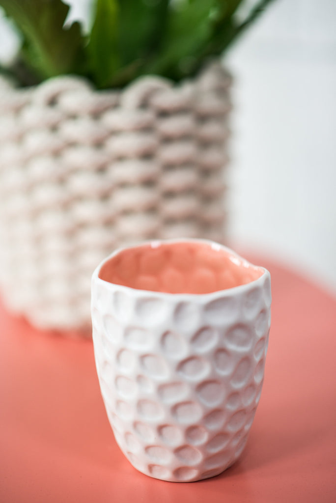 DOTTED SNOW CAPPED CANDLE
