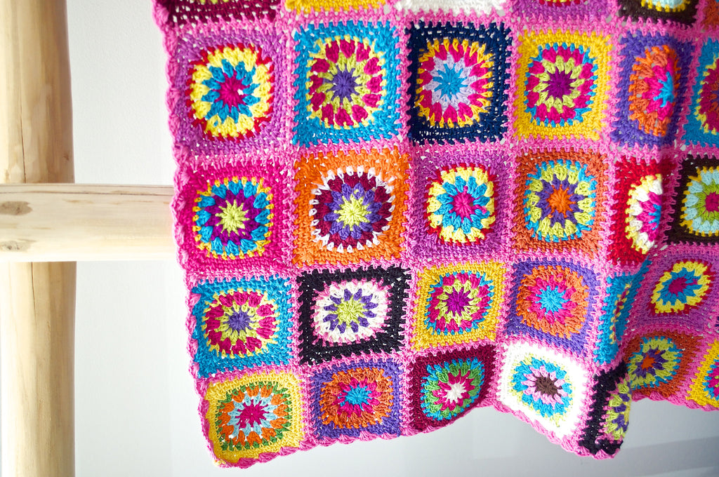 PRETTY IN PINK CROCHET COT BLANKET
